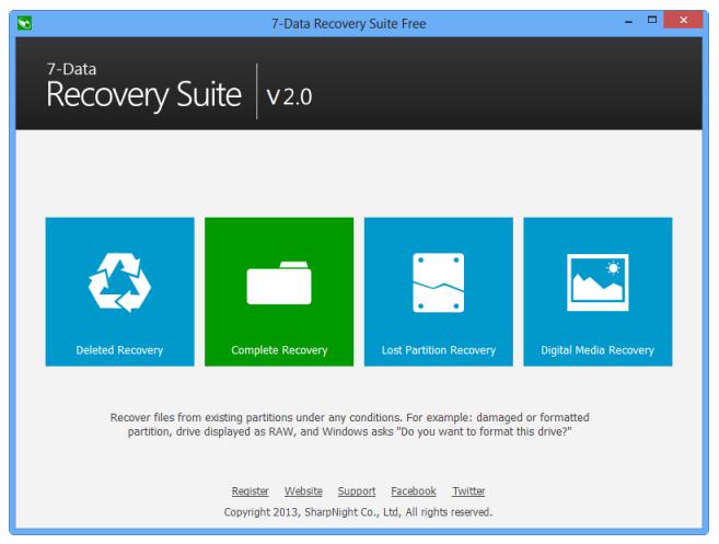 برنامج إسترجاع الملفات المحذوفة 7Data Recovery
