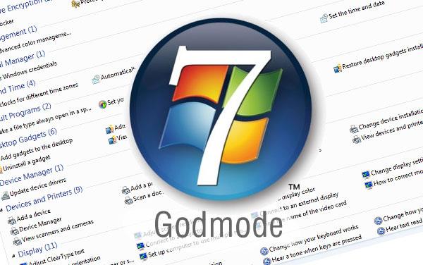godmode windows 71 شرح تفعيل الـ GodMode في الويندوز والحصول علي كامل الصلاحيات
