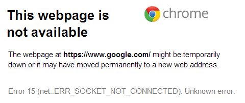 حل مشكلة عدم فتح المواقع احيانا في الـ Google Chrome