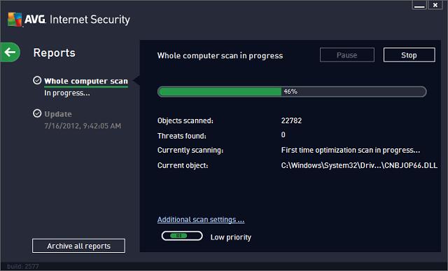 برنامج AVG Internet Security 2013 لمده سنه مجاناً