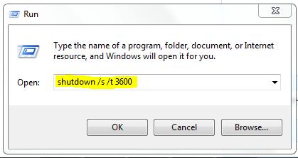 ايقاف الجهاز بعد وقت محدد بدون برامج