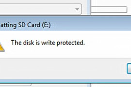 موضوع شامل عن حل مشكله the disk is write protected – الفلاش محمي ضد الكتابه