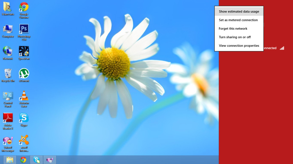 قياس كميه الانترنت المستهلكه في ويندوز 8 بدون برامج – windows 8