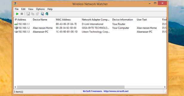برنامج Network Watcher لمعرفه من معك علي الشبكه ومن يسرق منك الانترنت