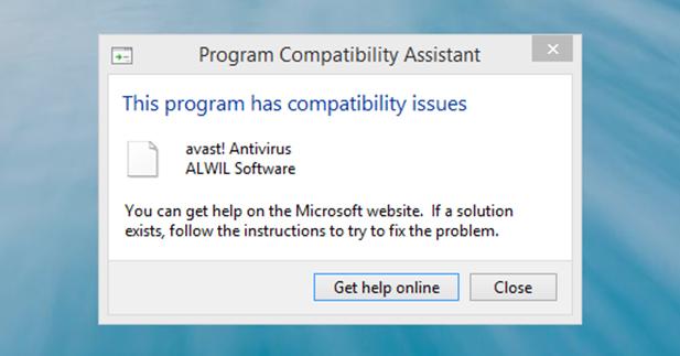 مشكله تثبيت برامج الحمايه في ويندوز Windows 8.1 التجريبيه