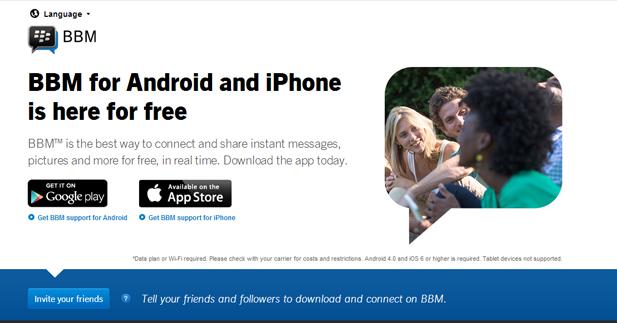 تحميل تطبيق BBM لاجهزه Android and iPhone