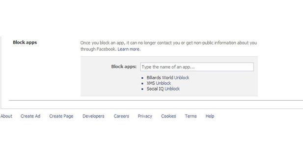 طريقة حظر التطبيقات والألعاب المزعجة في فيس بوك