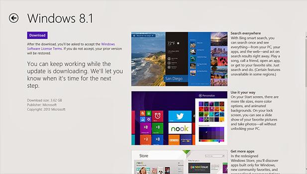 كيف تقوم بتحديث الوندوز 8 إلى الوندوز 8.1 الجديد والرسمي