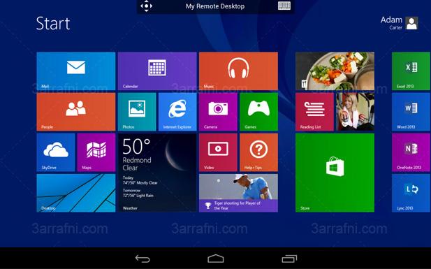 مايكروسوفت تطلق تطبيق Remote Desktop الخاص باجهزه اندرويد و IOS
