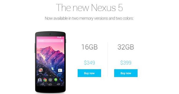 موضوع شامل عن الهاتف الذكي ' إل جي نيكسوس 5 ' – LG Nexus 5