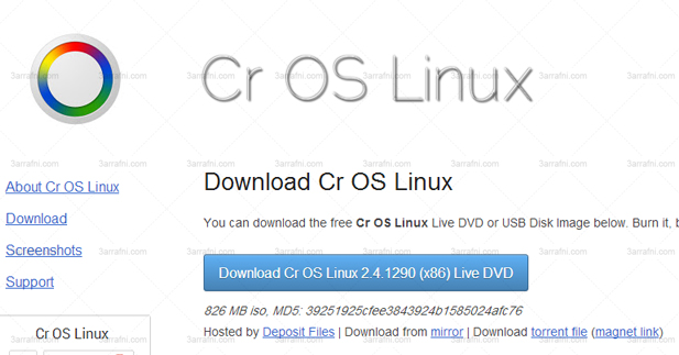 Download Cr OS Linux