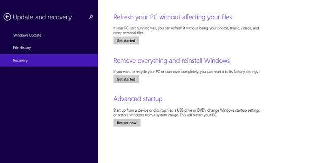 شرح عمل refresh لاستعاده نظام windows 8.1 لحالته الاصليه بدون خساره ملفاتك