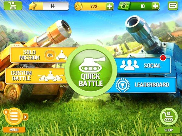 """لعبة الحرب """" Tank Battles """" في متجر جوجل بلاي مجانا"""