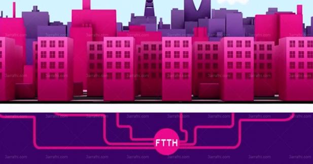 تقنية الالياف البصرية FTTH