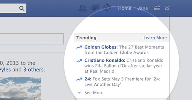 فيسبوك يعلن عن خاصيه جديده تسمي Trending