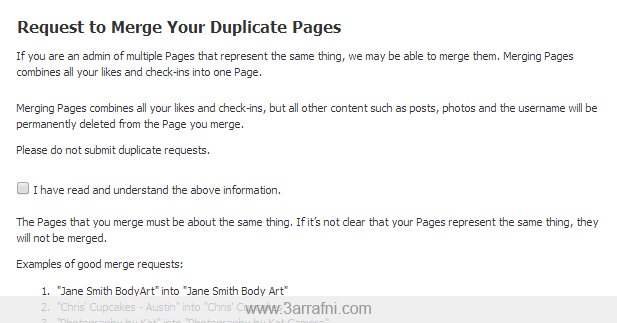 Request to Merge Your Duplicate Pages