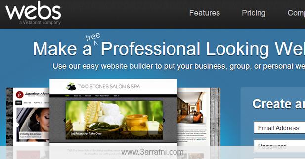انشاء موقع مجاني أحترافي لعرض معلوماتك به – Webs