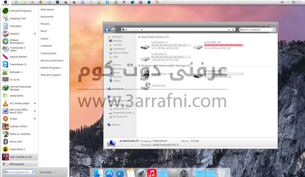 استخدام واجه ماك الجديده OSX Yosemite علي نظام windows (6)