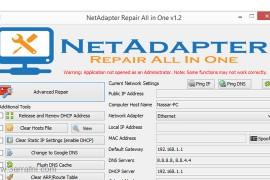 اداه NetAdapter لحل مشاكل الأنترنت والتصفح