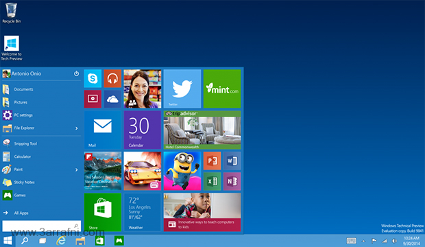 قائمه ابدا لنظام Windows 10