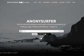 موقع anonysurfer لتصفح الأنترنت بشكل أمن وخفي دون الحاجه لتثبيت برامج