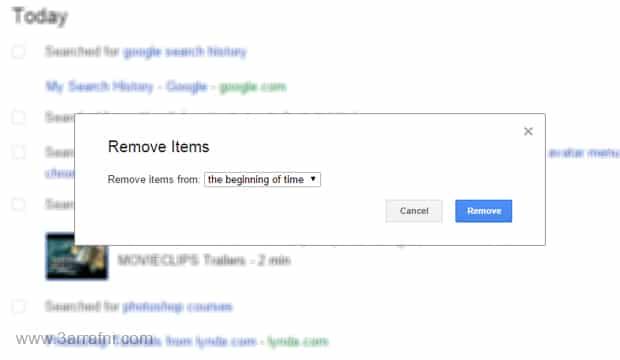 طريقة حذف سجل بحثك علي جوجل