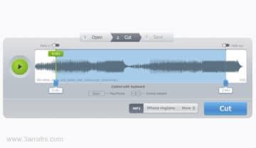 موقع MP3Cut للتعديل وقص الملفات الصوتية