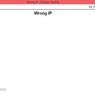 حل مشكلة wrong ip اثناء التحميل