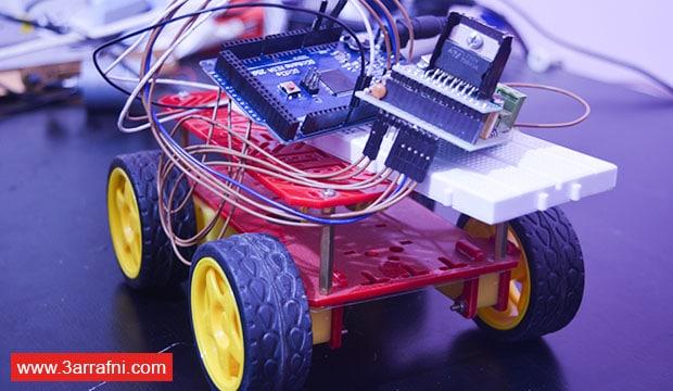 طريقة عمل عربيه والتحكم بها من خلال الهاتف بأستخدام إردوينو