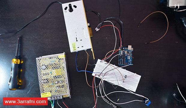 طريقة عمل قفل للباب يعمل بواسطة الهاتف باستخدام أردوينو