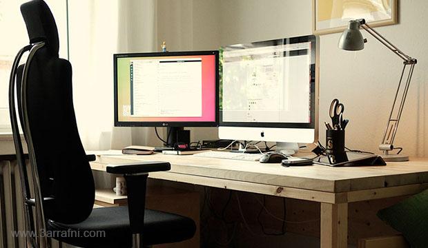 نصائح لحل مشاكل التي تظهر نتيجة جلوسك لساعات طويله امام الكمبيوتر مساحة عمل