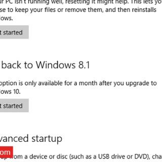 الرجوع من ويندوز 10 الي الويندوز السابق 7 او 8 او 8.1 بدون برامج