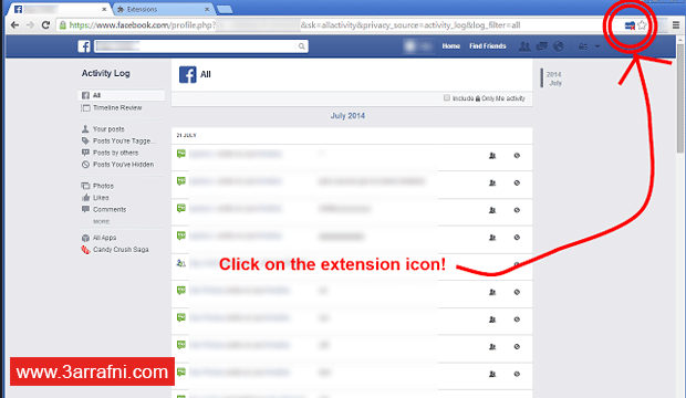 حذف جميع منشوراتك على الفيس بوك (2)