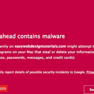 طريقة إيقاف متصفح جوجل كروم من حجب المواقع The site ahead contains harmful programs