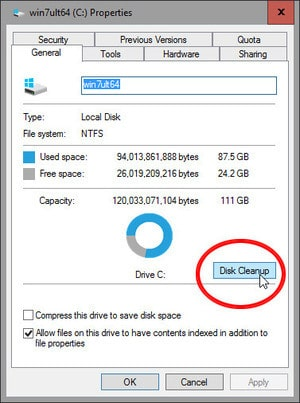 طريقة التخلص من ملفات الويندوز القديم بعد التحديث لويندوز 10 (1)