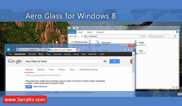 طريقة تفعيل خاصية شفافية النوافذ Aero Glass فى ويندوز 8 و 8.1 و 10