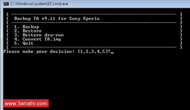 عمل نسخة إحتياطية للأزرار الرئيسية DRM Keys و X-Reality لـ هواتف سونى (2)
