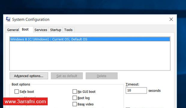 طريقة حذف ويندوز 8 عند الإقلاع و الدخول مباشرة لويندوز 10 و المزيد