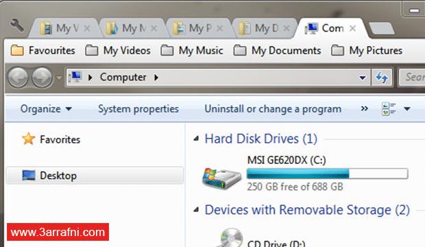 كيفية تحويل Windows Explorer إلى متصفح جوجل كروم لتصفح النوافذ