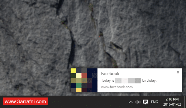 facebook notification on google chrome