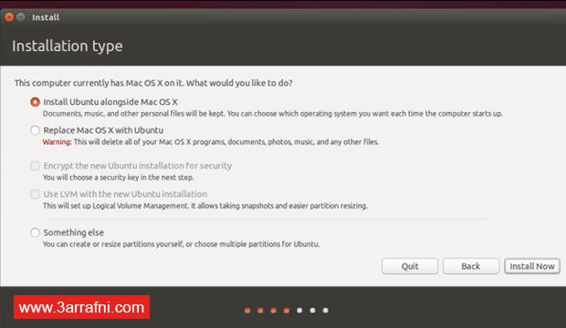 تثبيت نظام لينكس Linux بجانب نظام ماك Mac (3)