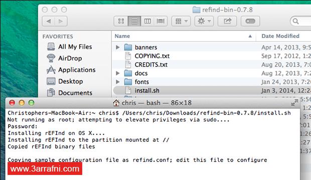 تثبيت نظام لينكس Linux بجانب نظام ماك Mac (8)