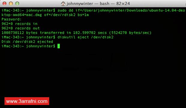 فلاشة ذاتية الإقلاع Bootable USB على نظام الماك OS X (12)
