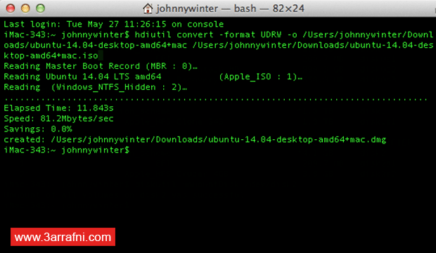فلاشة ذاتية الإقلاع Bootable USB على نظام الماك OS X (4)