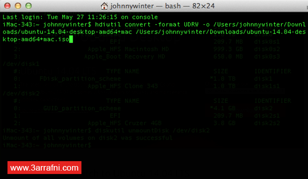 فلاشة ذاتية الإقلاع Bootable USB على نظام الماك OS X (5)