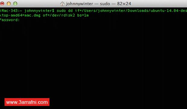 فلاشة ذاتية الإقلاع Bootable USB على نظام الماك OS X