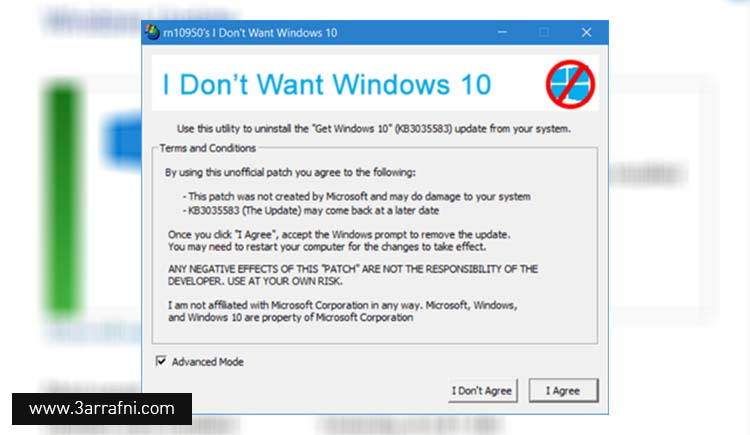 Don't Want Windows 10