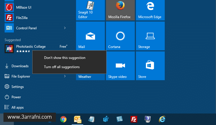 Disable Start Menu Ads or Suggestions