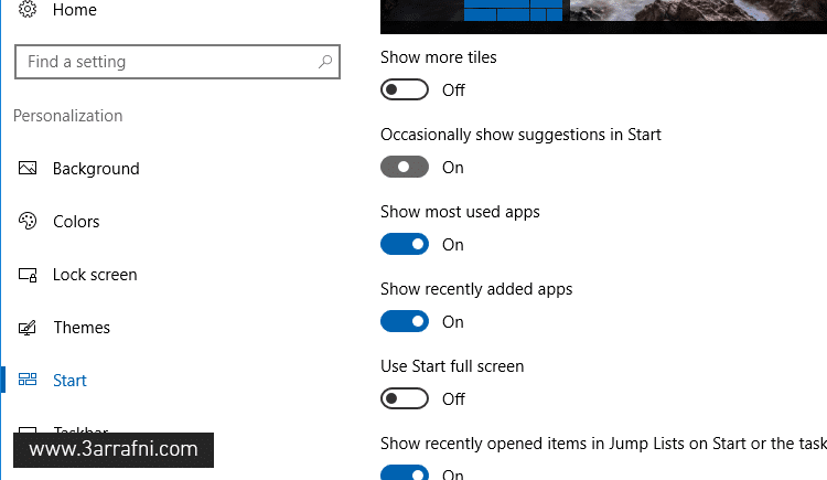 Disable Start Menu Ads