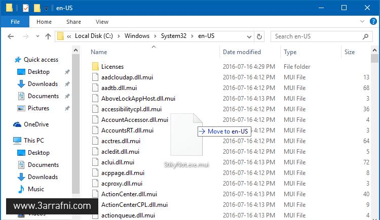 StikyNot file